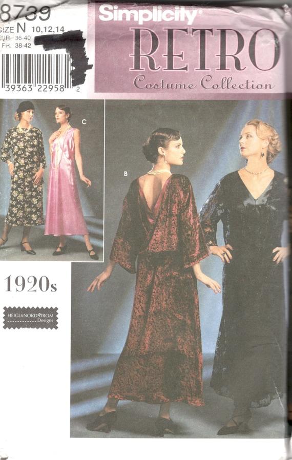 Simplicity 60 60s Dress Pattern Great Gatsby Downton Abbey Etsy Fascinating 1920s Dress Patterns