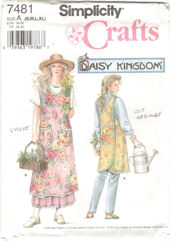 Simplicity 40 Misses Wrap Around Apron Pattern Criss Cross Etsy Mesmerizing Simplicity Apron Patterns