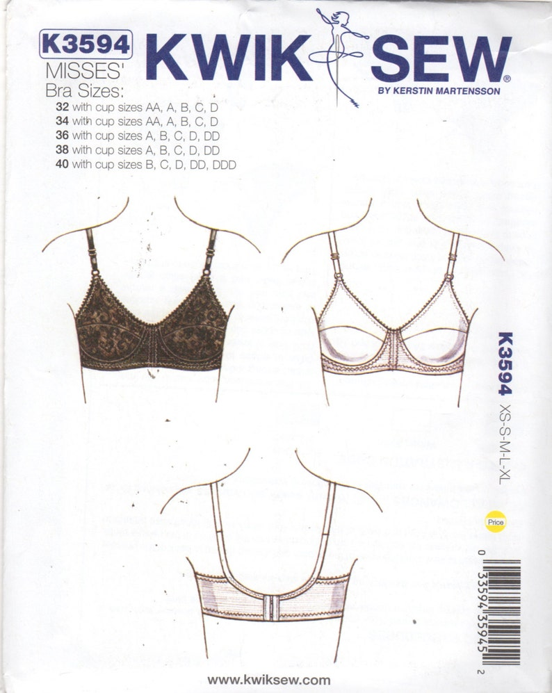 035f71b53 Kwik Sew 3594 Misses Bra Pattern LINGERIE Womens Sewing