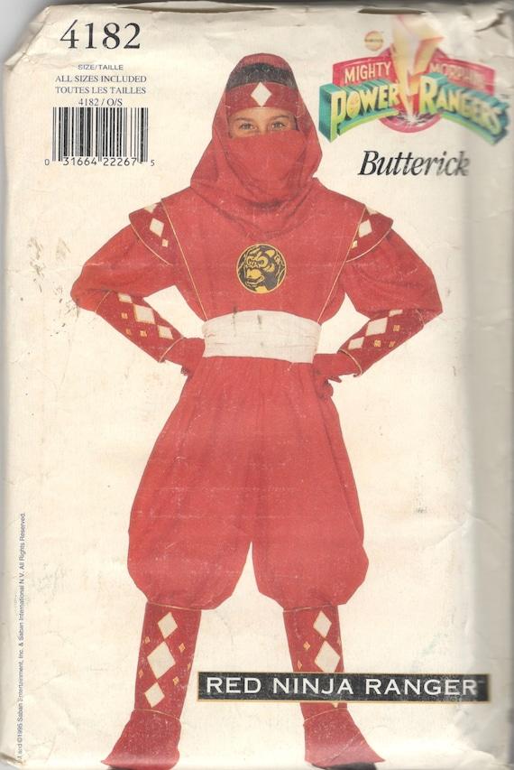 Butterick 4182 jungen Mädchen Teen rot Ninja POWER RANGER   Etsy
