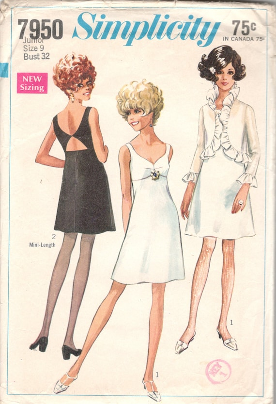 Simplicity 7950 Misses Cocktail Dress and Jacket Pattern 1960s | Etsy