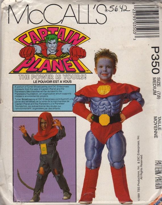 McCalls 5642 P350 Childs CAPTAIN PLANET Kostüm Muster | Etsy