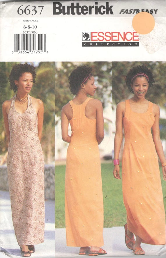 Butterick 60 Misses African Essence Dress Pattern Very Easy Etsy Cool African Dress Patterns For Sewing