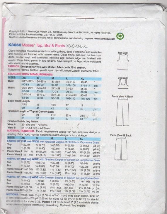 Kwik coser 3660 señoritas deportes sujetador Imperio V cuello | Etsy
