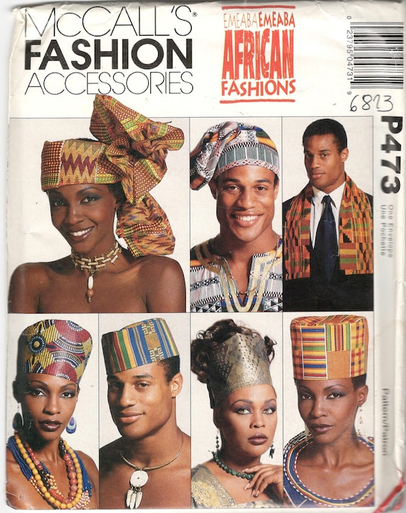 McCalls 60 P60 African Fashion Accessories Pattern EMEABA Etsy Simple African Sewing Patterns
