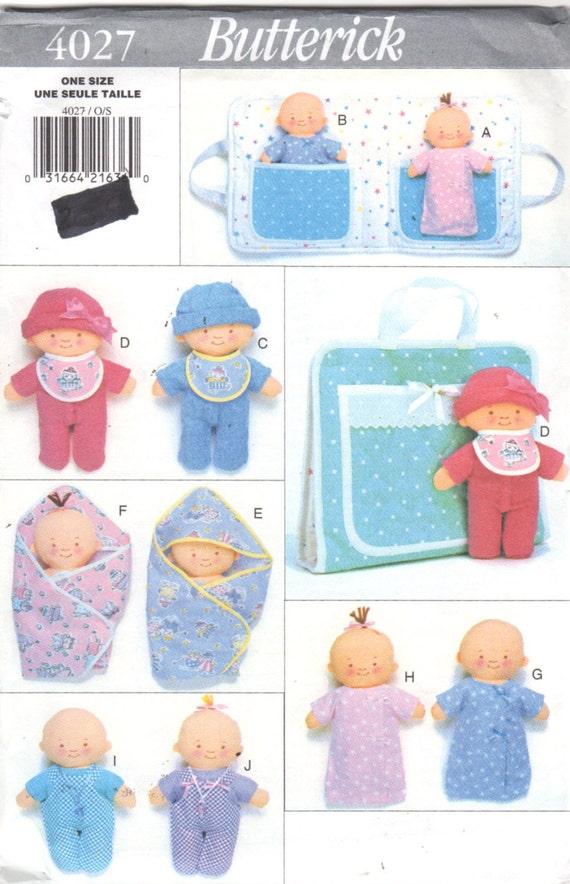 Butterick 4027 10-Zoll-Twin Puppen Puppe Kleidung und Träger | Etsy