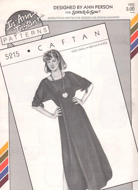 Estiramiento y cosen 5215 1980s señoritas CAFTÁN patrón Kimono   Etsy
