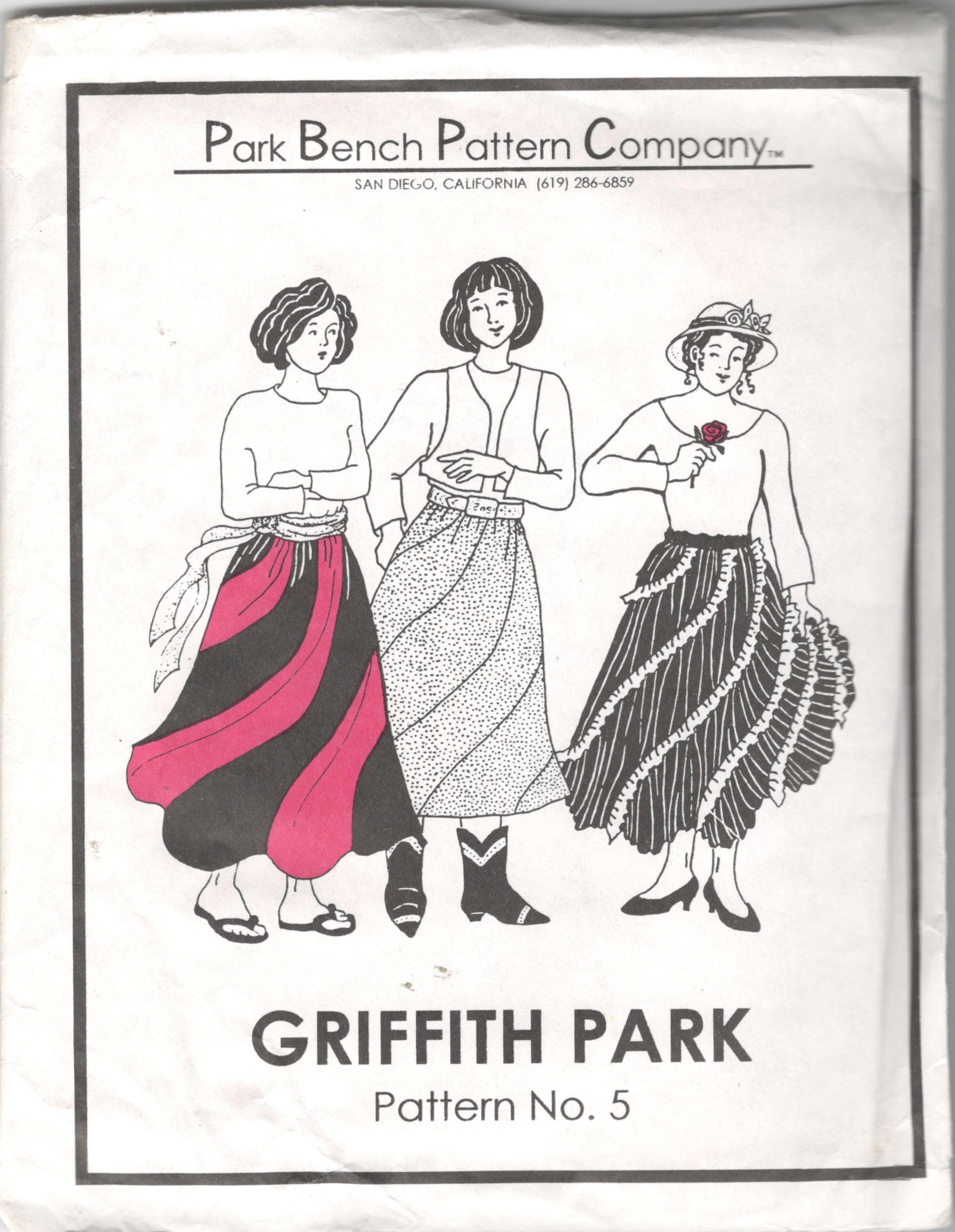 Park Bench Pattern Company 5 Griffith Park Swirl Skirt Simply Etsy