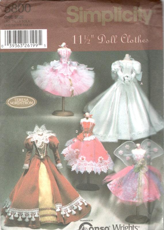 Semplicità 5800 Fashion Designer bambola vestiti modello  3c212053211