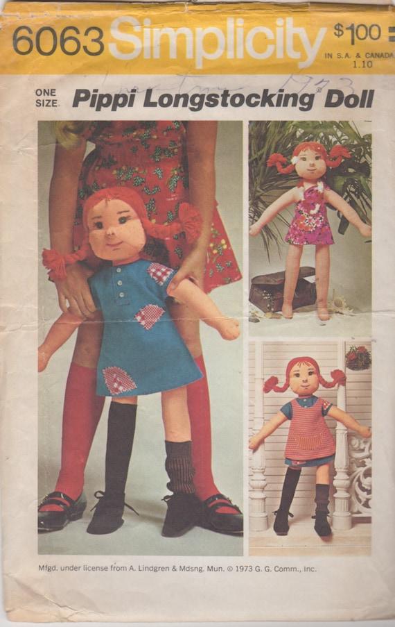 Patron de couture jouet Vintage simplicité 6063 1970s une ...