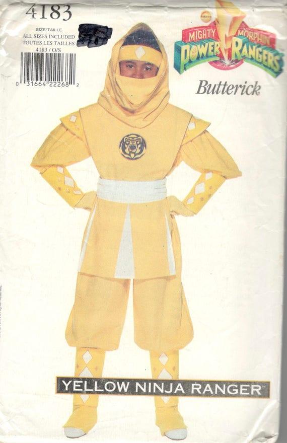 Butterick 4183 jungen Mädchen Teen Yello Ninja POWER RANGER   Etsy