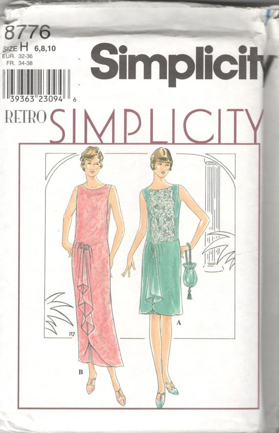 Simplicity 60 60s Dress Drawstring Purse Pattern Great Etsy Amazing 1920s Dress Patterns