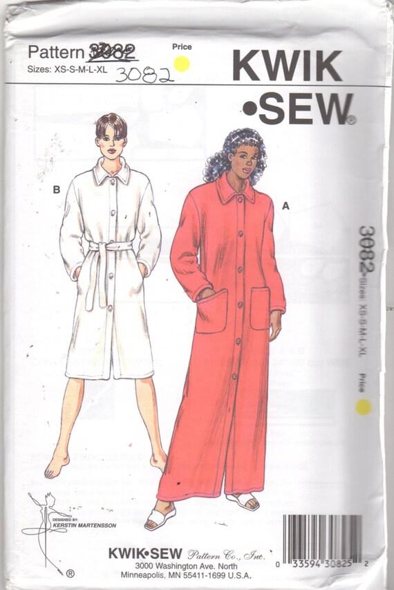 Kwik Sew 3082 Misses Knopf vorne Gewand Muster 2 Längen Frauen