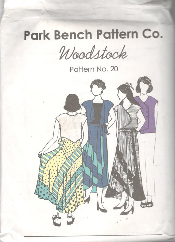 Park Bench Pattern Company 20 Woodstock Swirl Wrap Skirt And Etsy