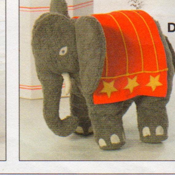 Burda 7904 Bär Stofftiere Nähen Muster Affe Elefant 17 bis 22 | Etsy