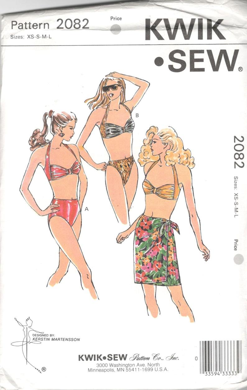 Kwik Sew 2082 Misses Bikini Swimsuit and Skirt Pattern Regular image 0