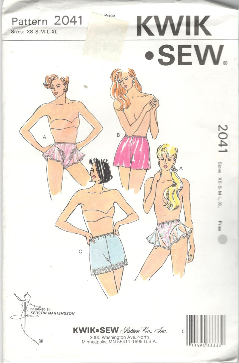 931345427931 Kwik Sew 2041 Misses Panties Pattern Flounced Tap Pants Boxer | Etsy