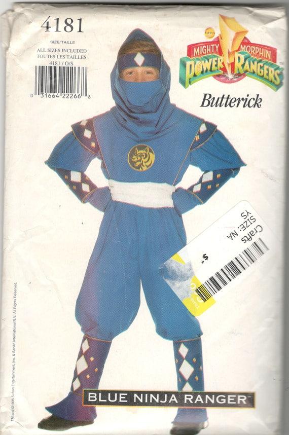 Butterick 4181 jungen Mädchen Teen blaue Ninja POWER RANGER   Etsy