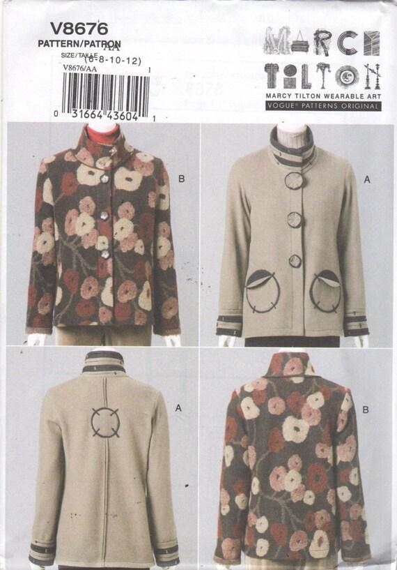 Vogue 8676 Misses Jacket Pattern Marcy Tilton Wearable Art | Etsy