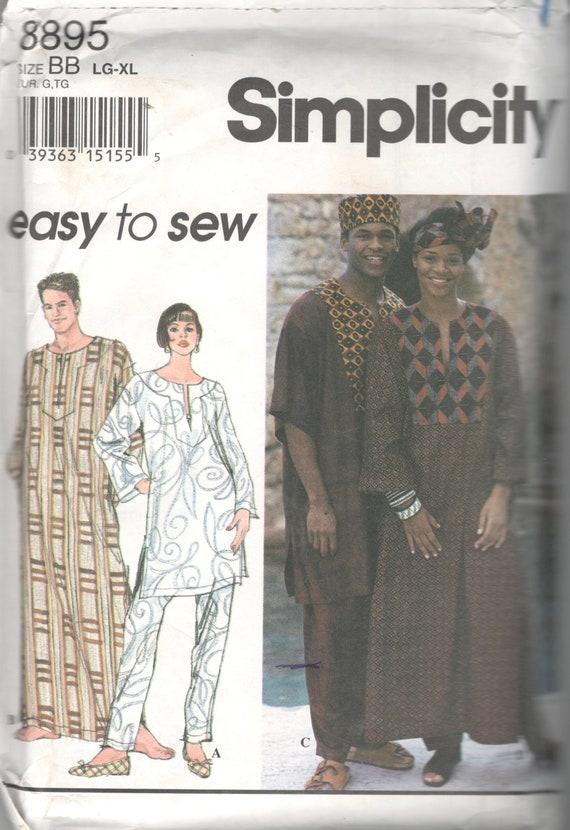 Einfachheit 8895 Misses Mens Afrocentric Kaftan Top Hose Hut   Etsy