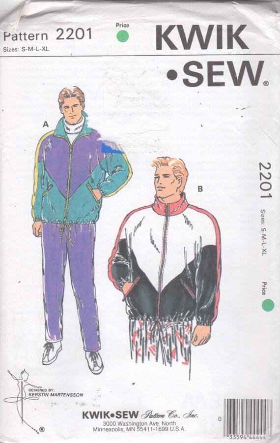 Kwik Sew 2201 Mens WINDSUIT Pattern Color Block Windbreaker | Etsy