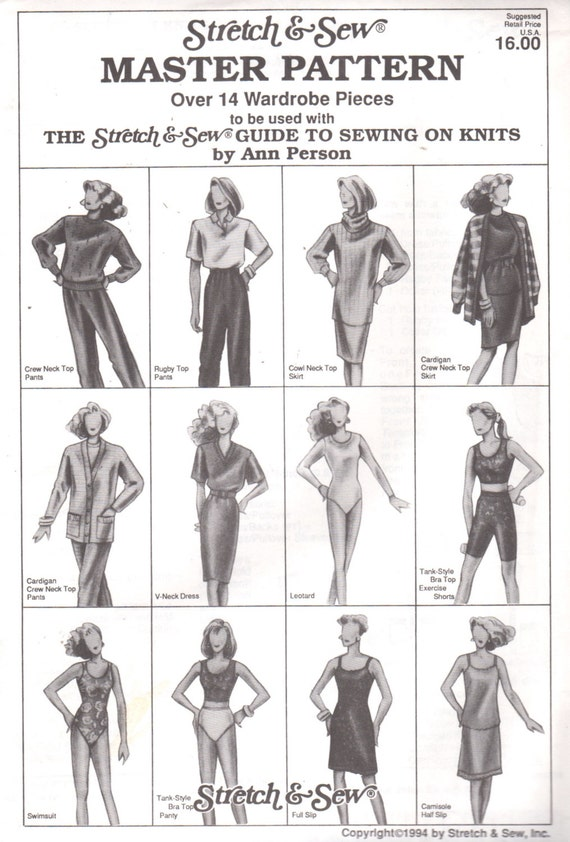 Strecke & Nähen Master Muster Sport-BH Dessous Kleid Badeanzug | Etsy