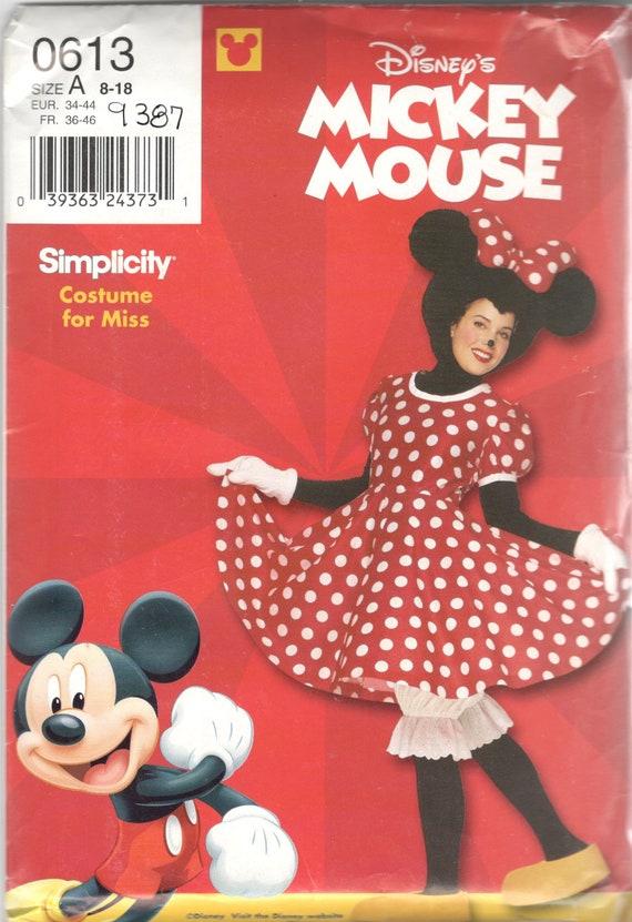 Einfachheit 9387 0613 Minnie Maus Kostüm Muster Kleid Höschen | Etsy