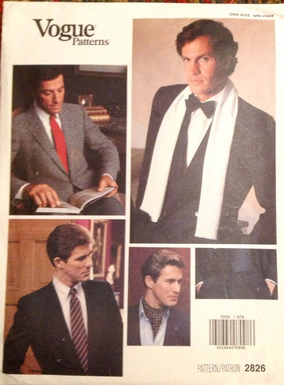 1980er Jahre Vogue 2826 Mens Smoking Kummerbund Fliege und | Etsy