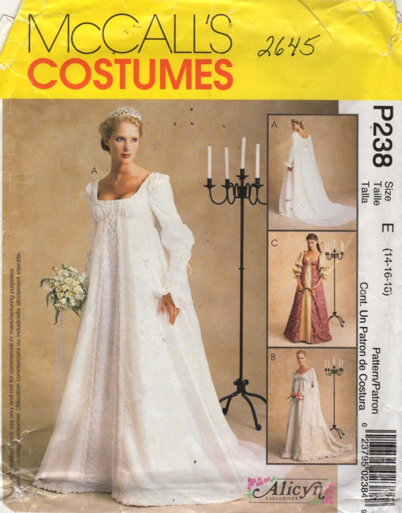 McCalls 2645 Misses Renaissance Wedding Dress Pattern Alicyn | Etsy