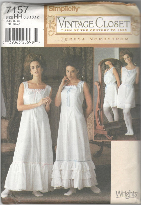 cabbaa24a1 Simplicity 7157 Misses VICTORIAN Lingerie Pattern Slip