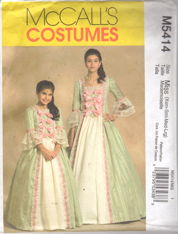 McCalls 40 Misses Colonial Costume Pattern Floor Length Etsy New Colonial Dress Patterns