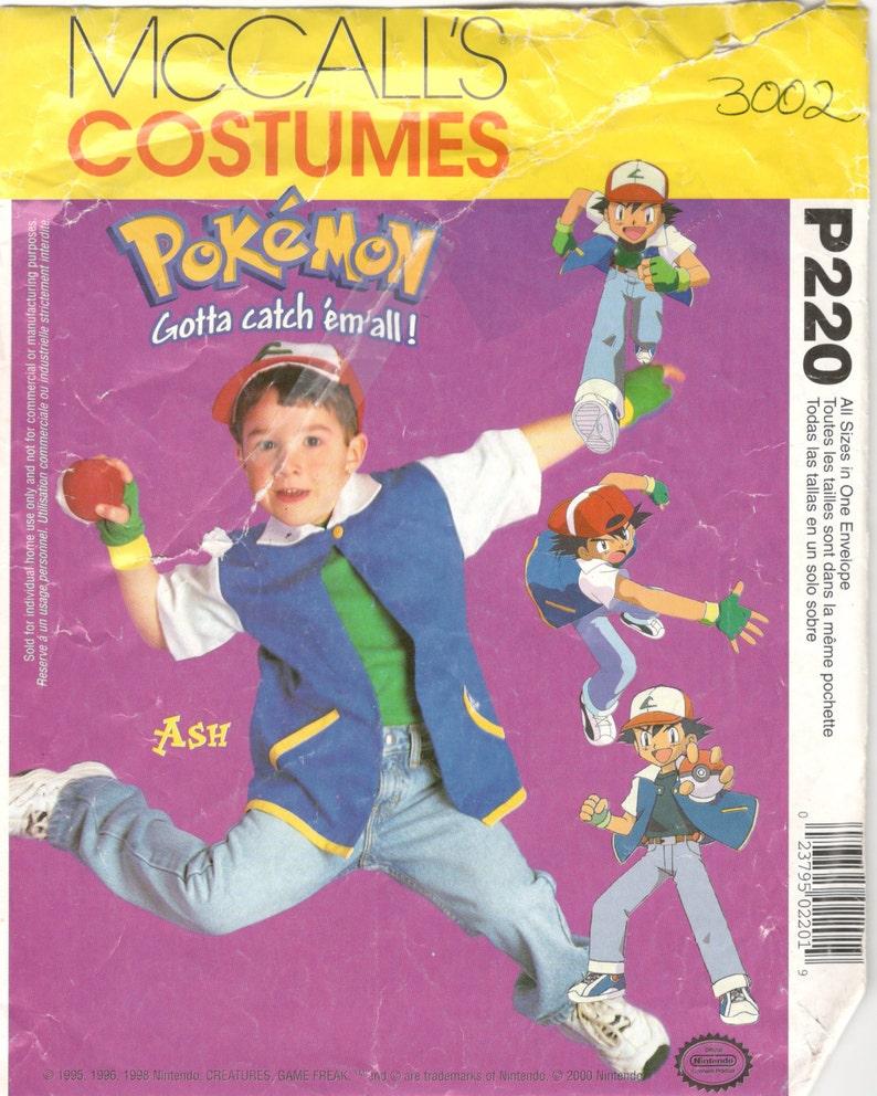 Mccalls 3002 P220 Child Pokemon Costume Pattern Ash Ketchum Etsy