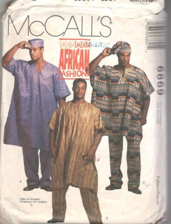 McCalls 60 Authentic African Mens Loose Fitting Tunic Etsy Gorgeous African Sewing Patterns