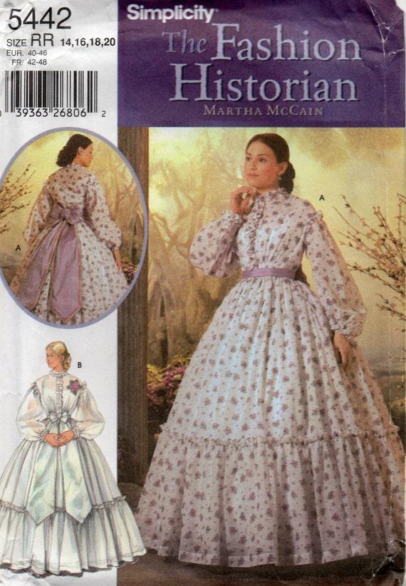 Einfachheit 5442 Mode Historiker vermisst Bürgerkrieg Kostüm | Etsy