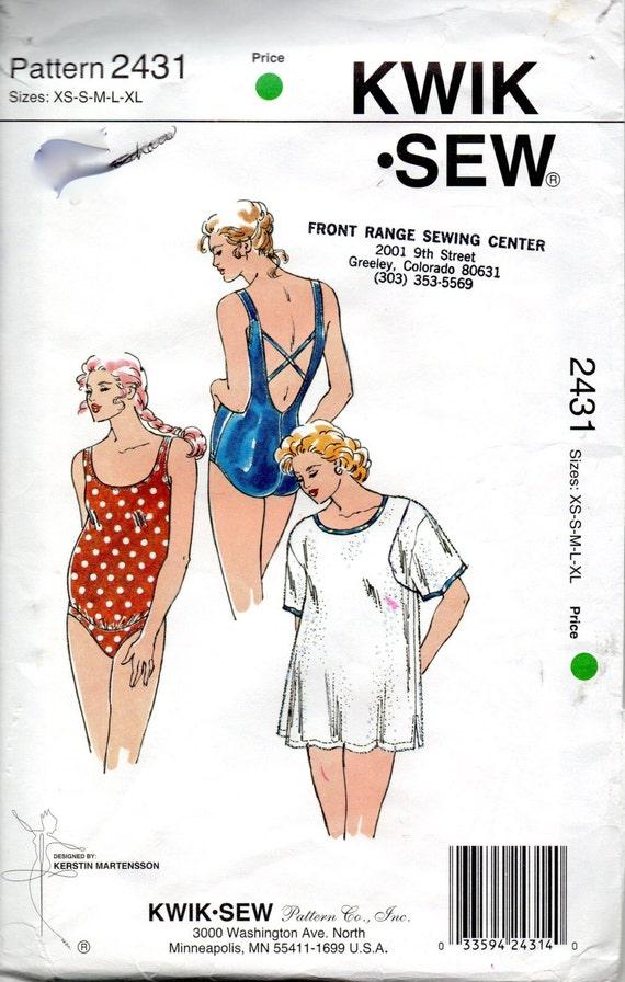2431 de coser Kwik falta 1 pieza maternidad traje de baño y | Etsy