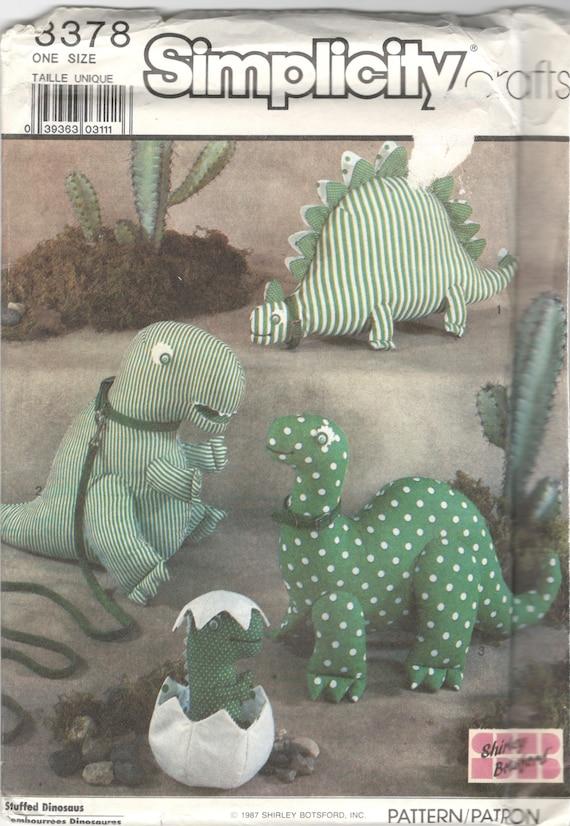 1980er Jahre Einfachheit 8378 Entwerfer Dinosaurier Muster | Etsy