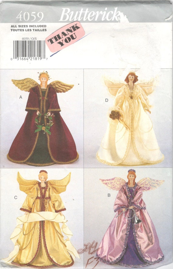 Butterick 4059 14 Inch Collectible Decorative ANGELS Pattern 4 | Etsy