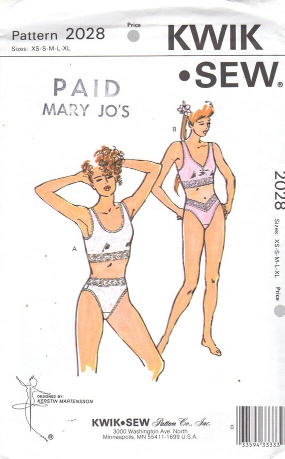 Kwik Nähen 2028 Misses Dessous Muster Hemdchen BH und Höschen   Etsy