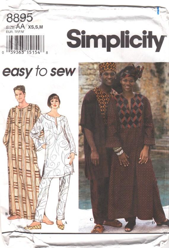 Einfachheit 8895 Misses Mens Afrocentric Kaftan Top Hose Hut | Etsy