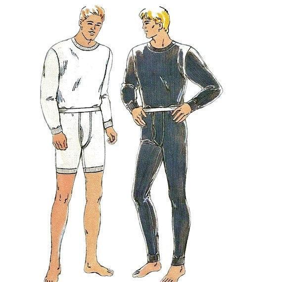 Kwik Sew 2389 Designer Mens Underwear Pattern Adult Teen Long Johns ...