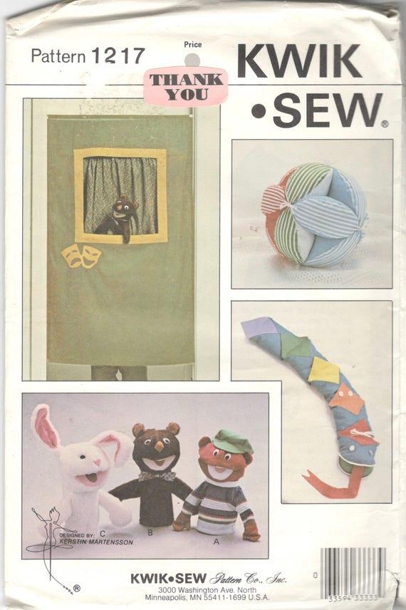 Kwik Nähen 1217 PUPPET Show Muster Stoff Ball und lernen | Etsy
