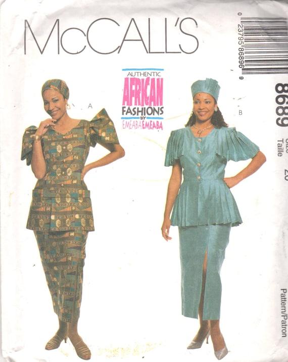 McCalls 8689 Misses authentische afrikanische Rock Peplum | Etsy