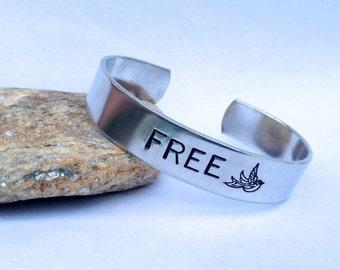 FREE BIRD-  Cuff Bracelet