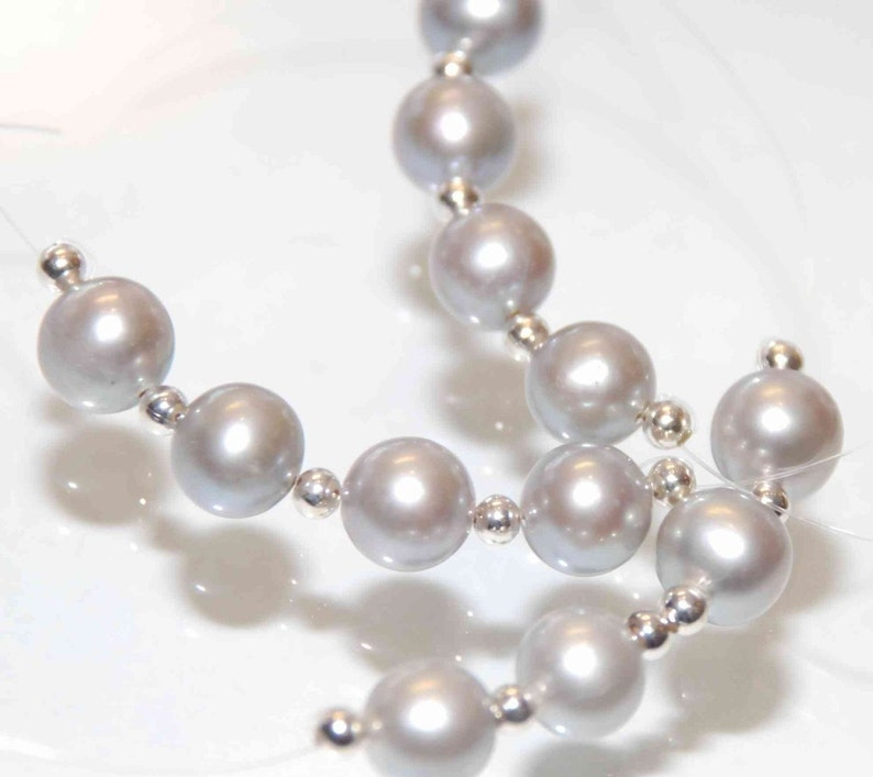 --round high quality--sale as 4 pieces AAA fine quality 8mm Genuine Platinum Silver genuine cultured Pearl
