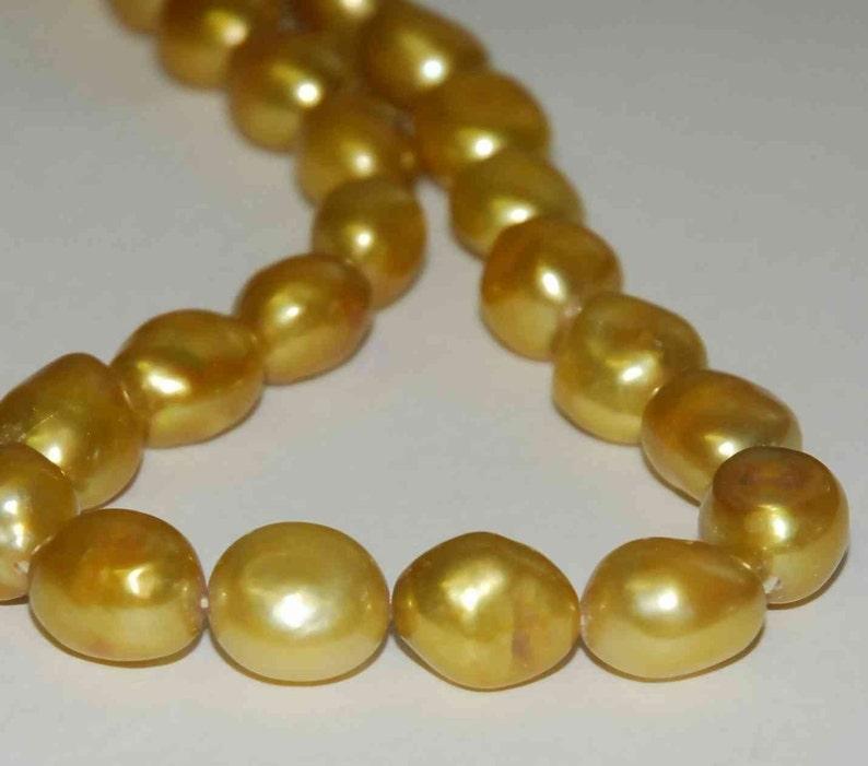 Baroque Pearl Large Gem Quality Golden --12-15mm genuine pearl---set 6pcs