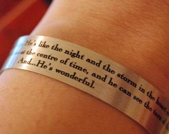 Doctor Who - He's Wonderful Bracelet