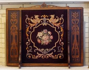 Antique Fireplace Screen >> Antique Fireplace Screen Etsy