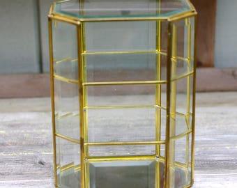 Glass Display Case Etsy