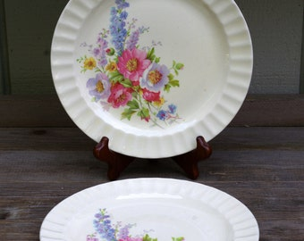 Edwin M. Knowles Spring Bouquet  Dinner Plate