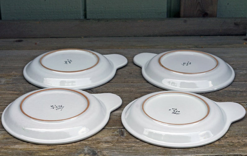Italy Vegetable Plates Set of 4 Inventory Box 37